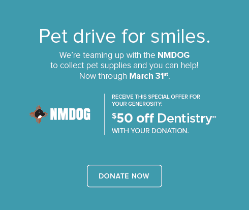 NMDOG Pet Drive - ABQ  Modern Dental Group